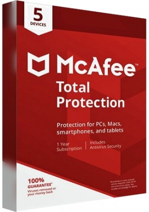 McAfee Total Protection - 5 Devices /1 Year
