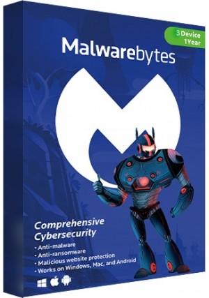 Malwarebytes Premium - 3 Devices/1 Year (EU)